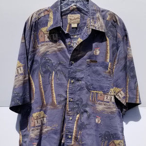 Original Woolrich Palm Camp Hawaii Button Shirt